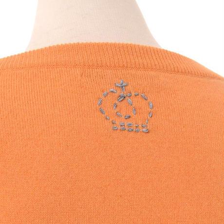 クイーンアンドベル queene and belle ワイドシルエットセーター カシミア ライトオレンジ