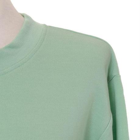 プラスプラス +2 長袖スウエット コットン混合ストレッチ グリーン