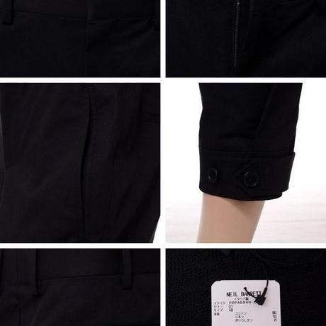 ニールバレット Neil Barrett 裾ボタンパンツ ブラック