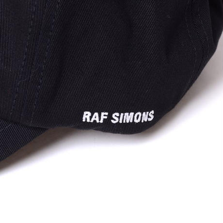 ラフシモンズ RAF SIMONS RSパレード・ベーシックキャップ コットン ブラック