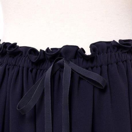 テン ten. タック使いスカート シフォン ネイビー