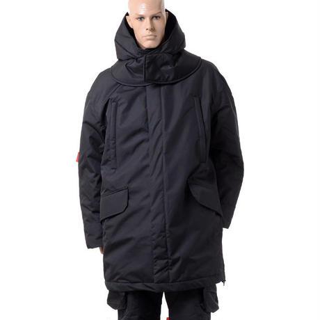 ラフシモンズ RAF SIMONS テンプラ アームストライプオーバーズワデッドスキージャケットコート ブラック