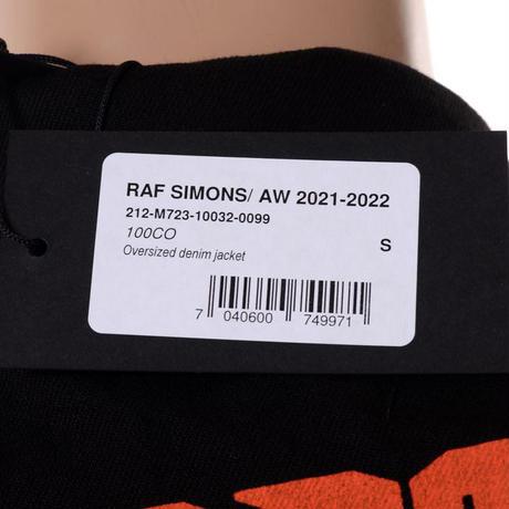 ラフシモンズ RAF SIMONS オーバーサイズドデニムジャケット コットン ブラック