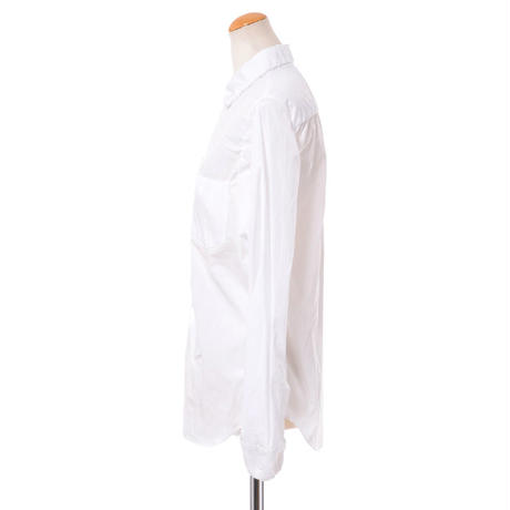 マルニ Marni ギャザー入りシャツブラウス オーガニックコットン ホワイト