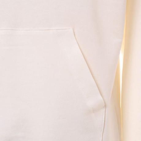 プラスプラス +2 スウエットパーカー コットン混合ストレッチ ホワイト