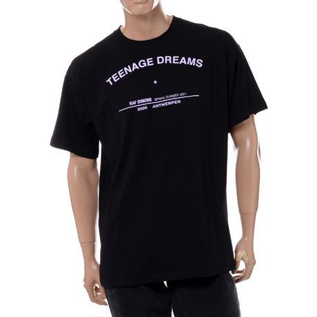 ラフシモンズ RAF SIMONS ティーンエイジドリームス・ビッグフィットツアーTシャツ コットン ブラック