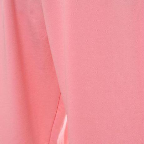 プラスプラス +2 ウエストゴムパンツ コットン混合ストレッチ ピンク