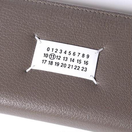 メゾン マルジェラ Maison Margiela ロゴパッチ付き長財布 やぎ革 ライラック