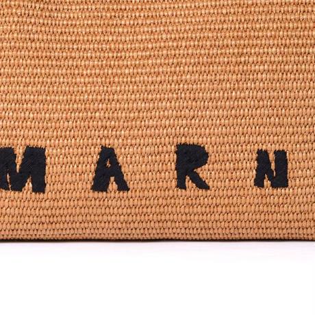 マルニ Marni フリンジバッグ ラフィア ブラウン