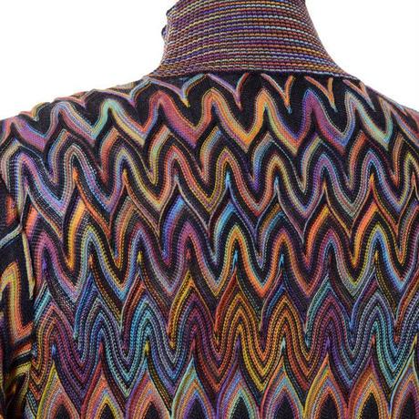 ミッソーニ Missoni ハイネックセーター 羊毛 レインボーカラー