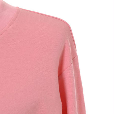 プラスプラス +2 長袖スウエット コットン混合ストレッチ ピンク