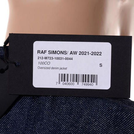 ラフシモンズ RAF SIMONS オーバーサイズドデニムジャケット コットン インディゴ