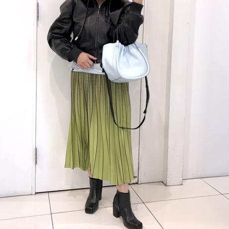 プロエンザスクーラー Proenza Schouler 巾着型ショルダーバッグ スムースレザー ブルーハニー