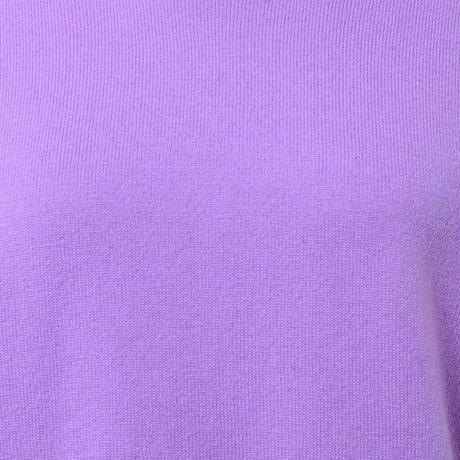 プラスプラス +2 ウールカシミアハイネックセーター ヨコアンティオリジナル ラベンダー