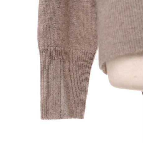 プラスプラス +2 ウールカシミアハイネックセーター ヨコアンティオリジナル ライトベージュ