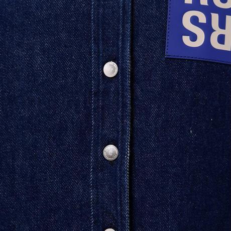 ラフシモンズ RAF SIMONS パッチ付きシャツ コットン デニム