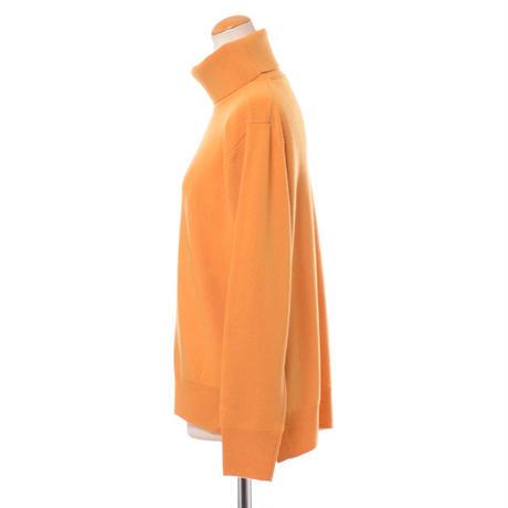 プラスプラス +2 ウールカシミアハイネックセーター ヨコアンティオリジナル マンダリンオレンジ