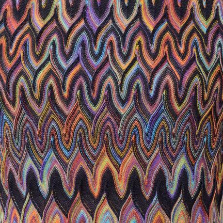 ミッソーニ Missoni 半袖セーター 羊毛 レインボーカラー