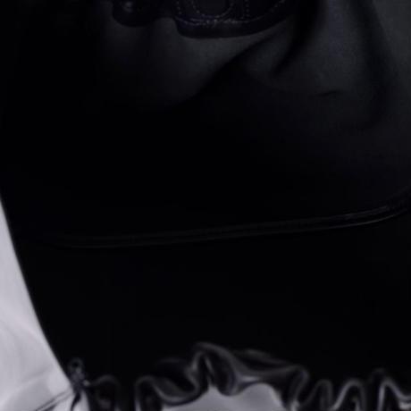 プロエンザスクーラー Proenza Schouler 巾着型トートバッグ スムースレザー ブラック