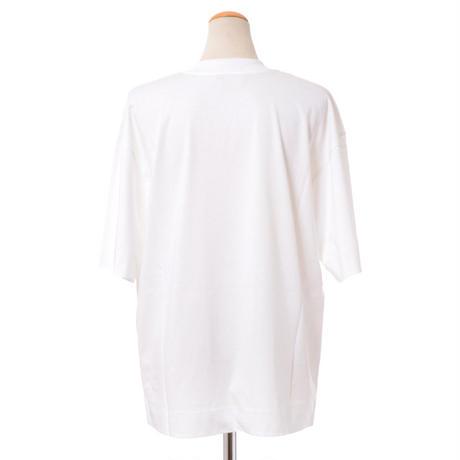 マルニ Marni ロゴ入り半袖カットソー コットンジャージー ホワイト