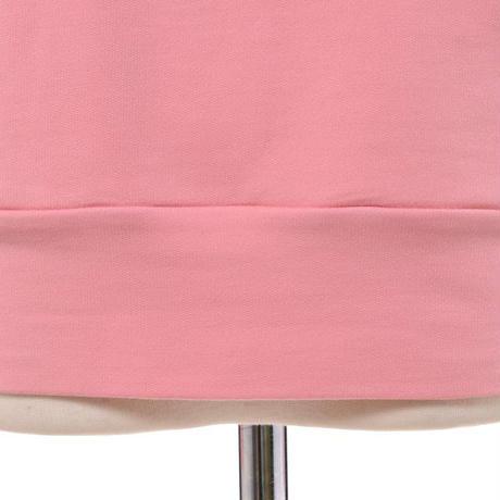 プラスプラス +2 スウエットパーカー コットン混合ストレッチ ピンク
