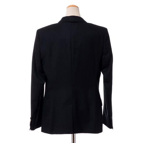 アニオナ AGNONA テーラードジャケット 羊毛ストレッチ ブラック