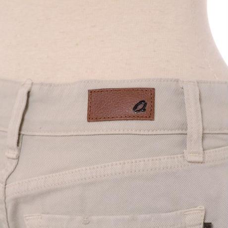 インポートブランド import brand 裾フリンジワイドジーンズ コットンストレッチ ベージュ