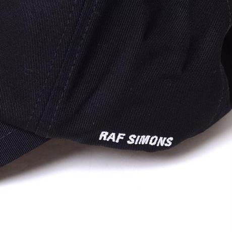 ラフシモンズ RAF SIMONS バッヂ・ベーシックキャップ コットン ブラックナイト