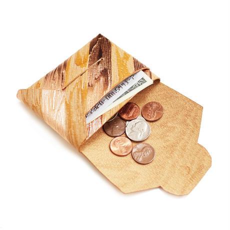 ポケットカードコインケース   -ウッディー- 【Pocket Card Coin Case -Woody-】