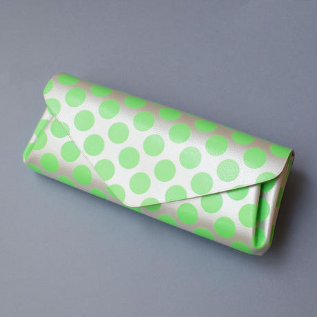 New!レザーロングウォレット クリアドット ネオングリーン【Leather Long Wallet Clear Dot Neon Green】