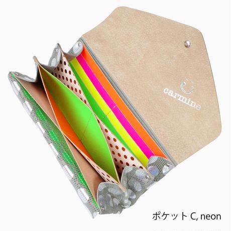 期間限定!カスタムオーダー☆ レザーロングウォレット ドット カードポケットタイプ【Domestic Only】
