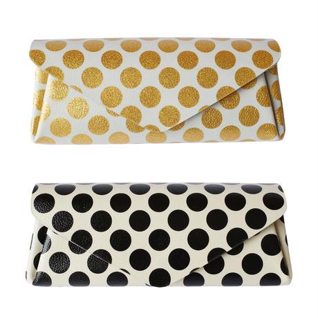 新作!レザーロングウォレット クリアドットカードポケットタイプ【Leather Long Wallet Clear Dot Card Pocket Type】