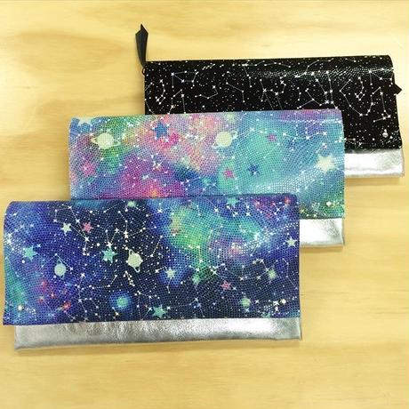 2ウェイレザークラッチバッグ 【2Way Leather Clutch Bag SuperStarry&Fantasy Starry】