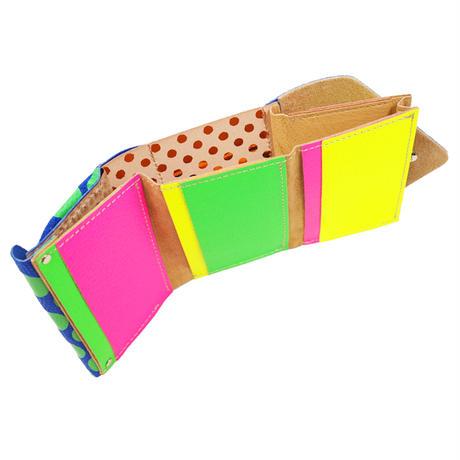 コンパクトウォレットネオンドット 【Compact Wallet  Neon Dot  】