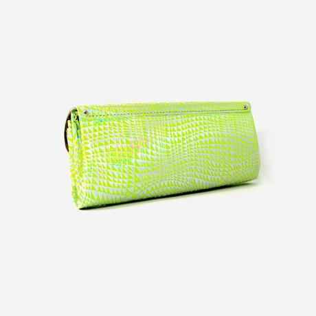 レザーロングウォレット ビーム ネオンイエロー 【Long Wallet BEAM Neon Yellow】