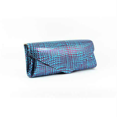 レザーロングウォレット ビーム ブルー 【Long Wallet BEAM Blue】