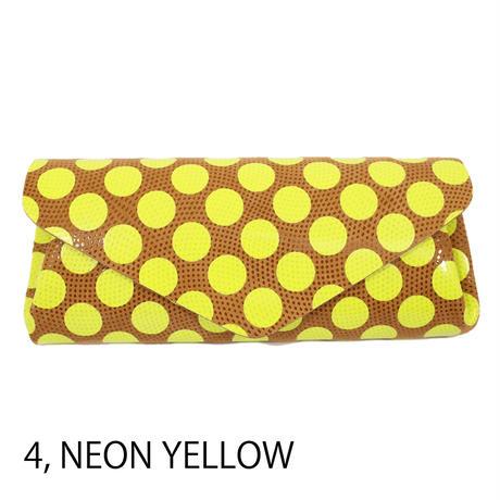 ドットレザー ロングウォレット ネオンカラー 【Dot Leather Long Wallet NeonColor】