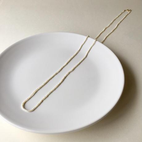 タイニーパール 80cm ネックレス  【K14GF】