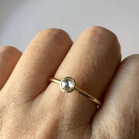 ローズカット ダイヤモンドリング 4mm   【K18】