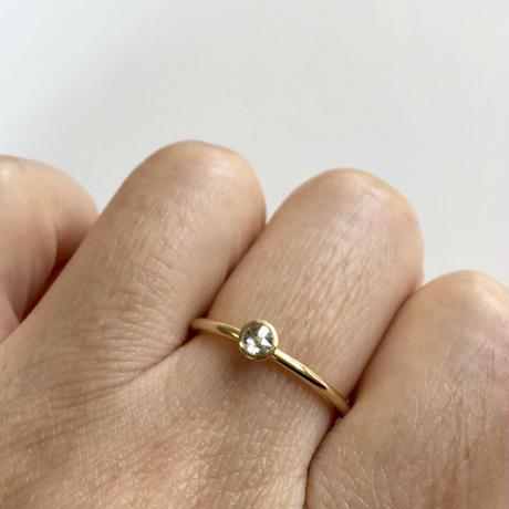 ローズカット ダイヤモンドリング 3mm   【K18】