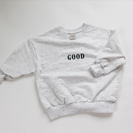 "kids★""today is good"" smile sweat tops"