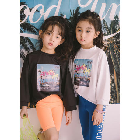 【予約商品】kids★ALOHA print  rush guard