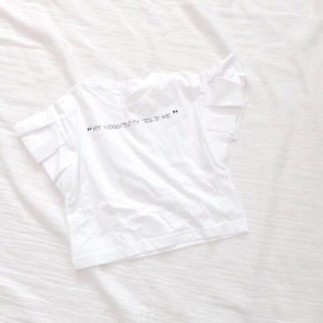 kids★frill sleeve tshirt
