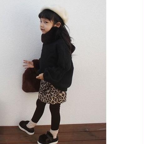 kids★leopard leggings skirt