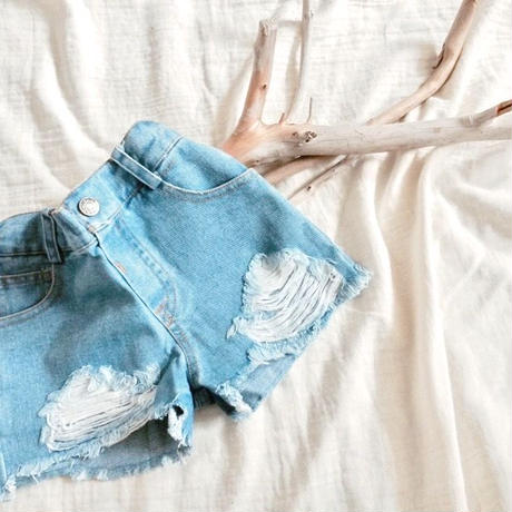 kids★damage denim short pants