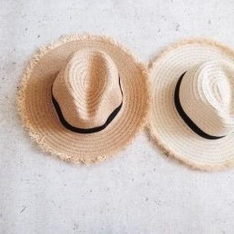 ladies&kids ★fringe rafia hat