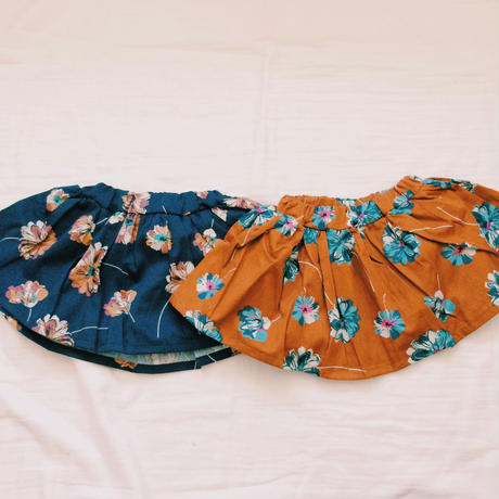 kids★flower flare skirt
