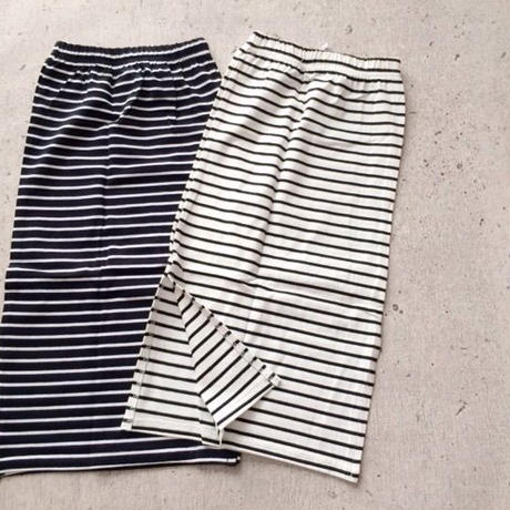 kids★border long skirt