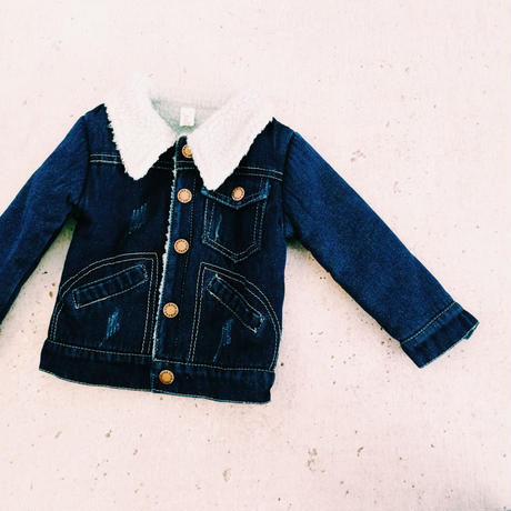 kids★bore denim jacket(short)