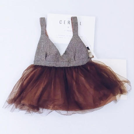 kids★tweed×tulle one-piece